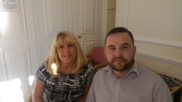 Linda Davies, DVLA and Peter Gallagher, LC Vehicle Hire