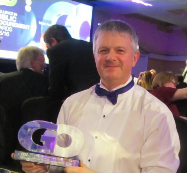 Paul Cattroll with his GO award