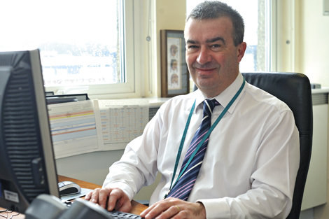 Talking to Hugh Evans, DVLA's Corporate Service manager ...