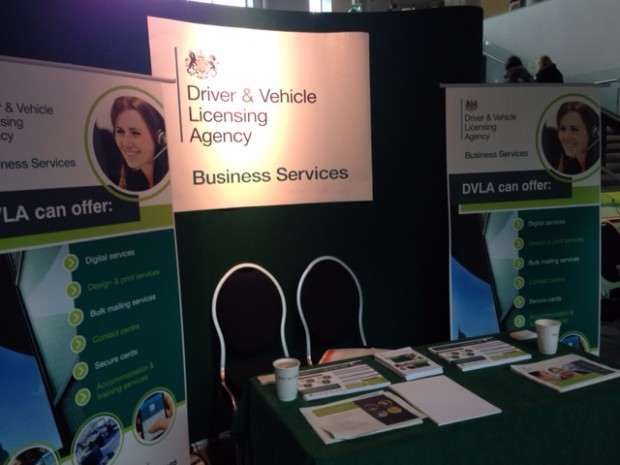 dvla's information stand at CSL