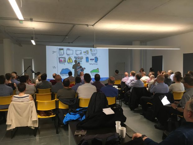 Audience at GDS 'platform as a service (PaaS)' and Cloud Foundry event at TechHub in Swansea