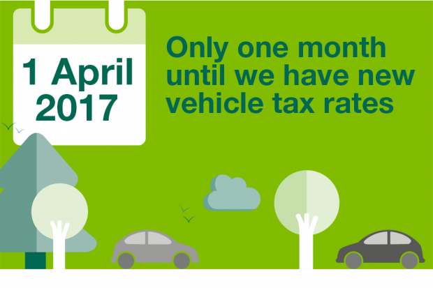 Only one month to go until we have new vehicle tax rates